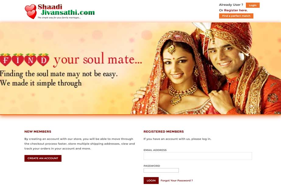 It's a matrimonial site where people can find their perfect life partner and contact them for any further inquiries.