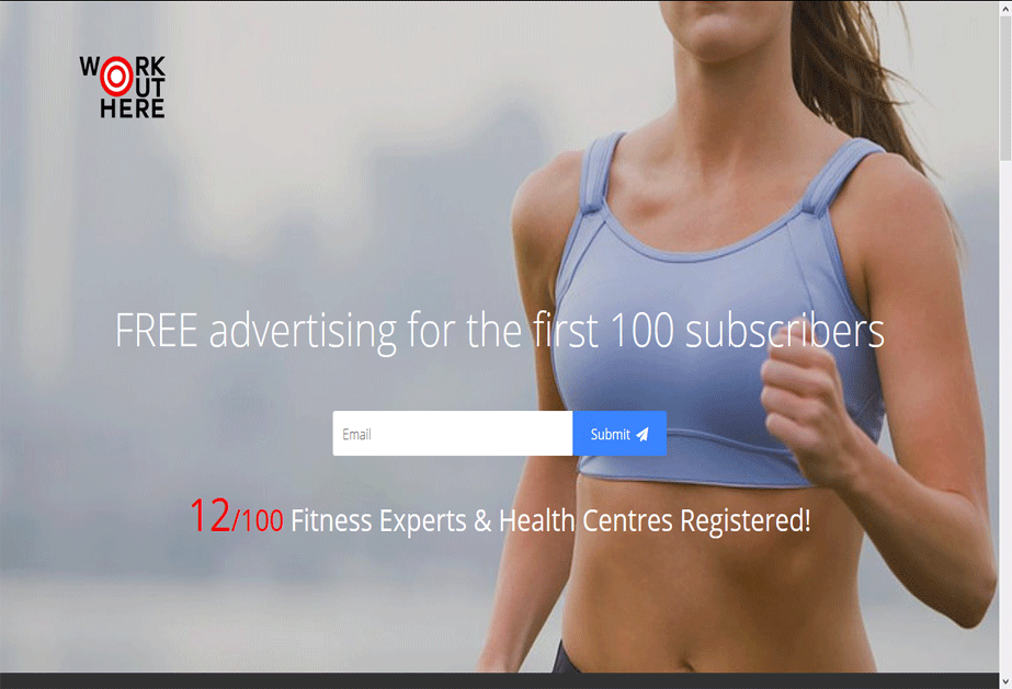A wordpress site where users can get fitness and workout tips by professional fitness experts. <br />URL: http://workouthere.co.uk/