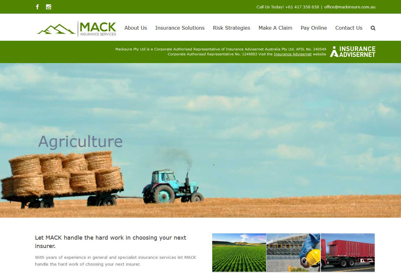 MackInsure is wordpress website built over AVADA theme for an Insurance Company located in NSW, Australia.<br/>URL: http://mackinsure.com.au/