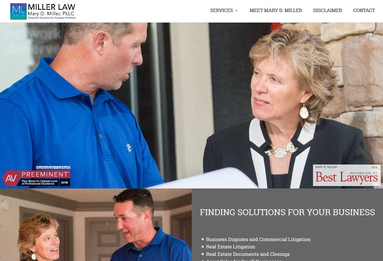A one-page website built over wordpress using the famous multipurpose theme, Divi.<br/>URL: https://millerlaw.solutions/