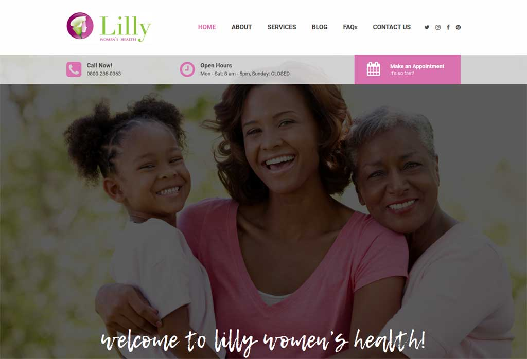 A wordpress website requested for revamp. We used the multipurpose theme, Pearl as a base to customize the appearance.<br/>URL: http://lillyhealth.com/