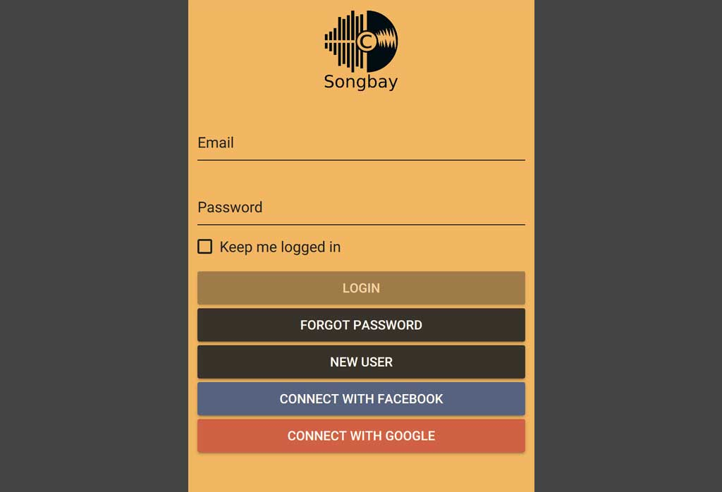 An application for the songbay website that we're working upon ongoing bases.