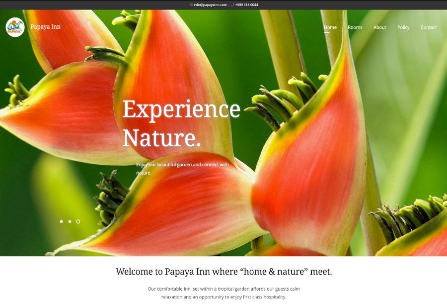 A wordpress website to book a rooms and villas.